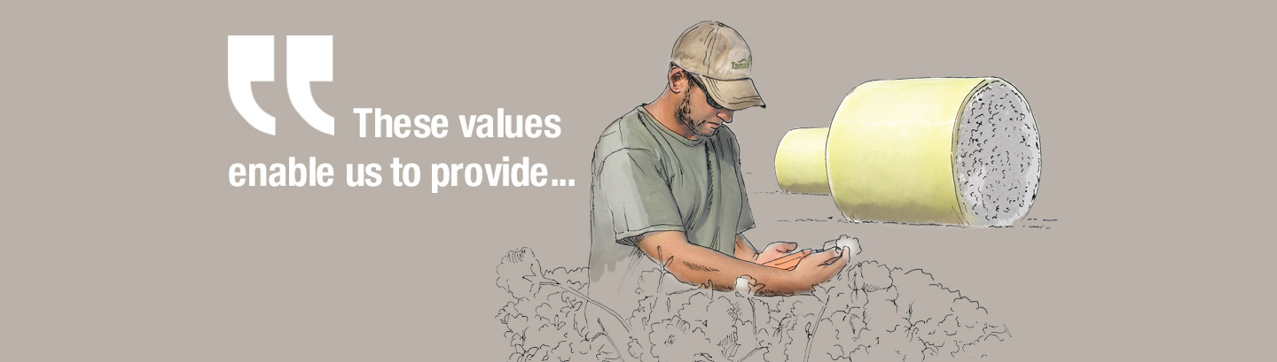 These values enable us to provide